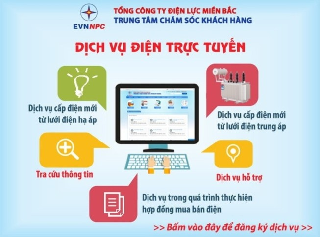 EVNNPC: Khách hàng hưởng lợi từ dịch vụ điện trực tuyến