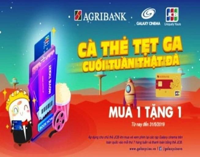 Mua 1 tặng 1 với thẻ Agribank JCB tại Galaxy Cinema