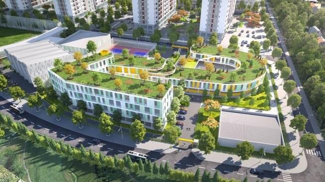 Điểm nhấn thiết kế cảnh quan của Him Lam Green Park