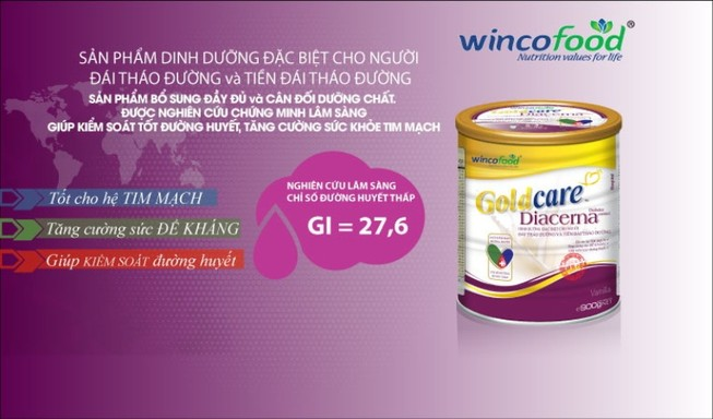 Goldcare Diacerna - dinh dưỡng vàng của người tiểu đường