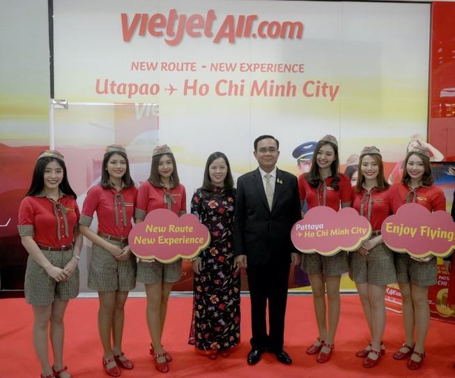 Thủ tướng Thái chúc mừng VietJet với đường bay TP.HCM-Pattaya