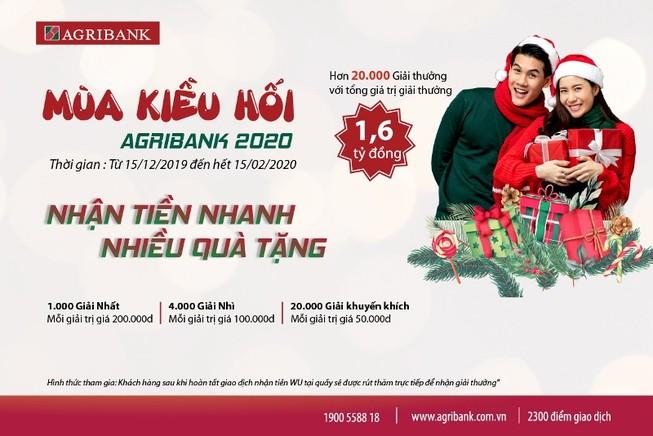 Dịch vụ kiều hối Agribank: Nhận tiền nhanh, nhiều quà tặng