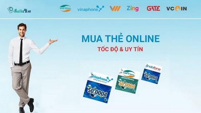 Mua thẻ điện thoại, thẻ game nhanh chóng tại muathe24h.vn