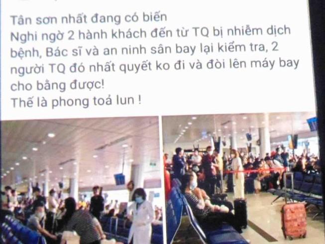 Bác thông tin 2 khách Trung Quốc nhiễm bệnh ở Tân Sơn Nhất
