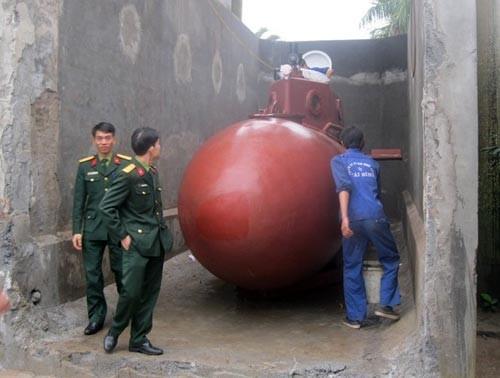 Sáng nay chạy thử tàu ngầm tự chế tại Thái Bình