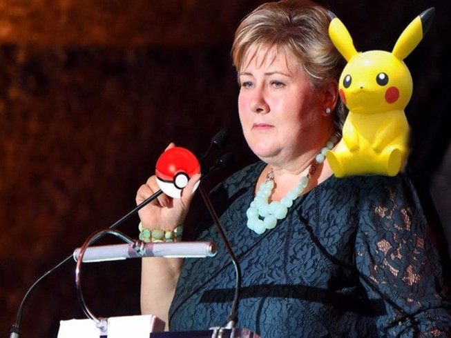 Thủ tướng Na Uy bắt pokemon khi đang họp Quốc hội