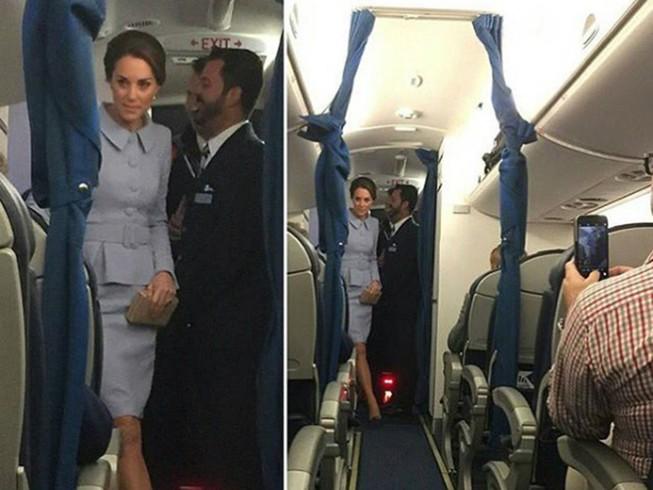 Công nương Anh Kate di chuyển bằng máy bay thương mại