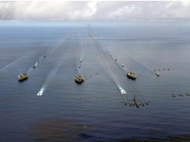 Ba tàu sân bay Mỹ sắp tập trận tại châu Á