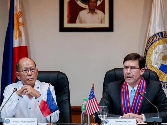 Ông Esper: Tăng liên minh quân sự giúp Philippines ở biển Đông