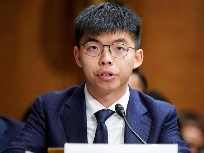 Hoàng Chi Phong trong phiên điều trần trước Quốc hội Mỹ ngày 17-9-2019. Ảnh: REUTERS