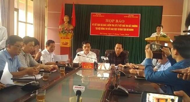 Công bố chấn động về gian lận điểm thi THPT ở Hà Giang