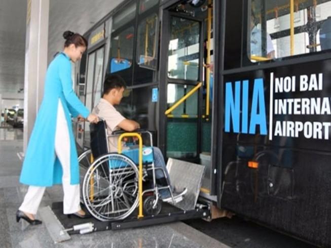 Thêm ưu tiên cho người khuyết tật khi đi máy bay