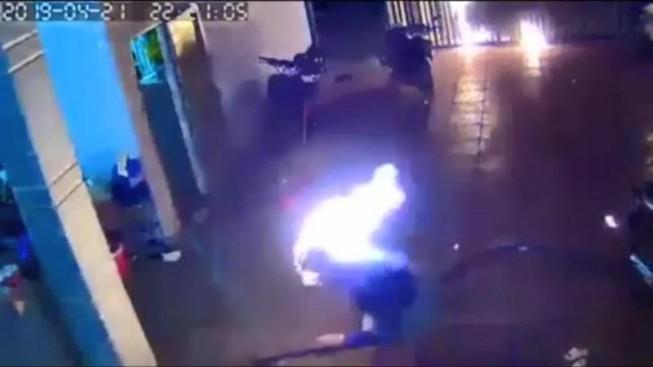 Tấn công bằng bom xăng tại Bình Phước, 4 người nhập viện