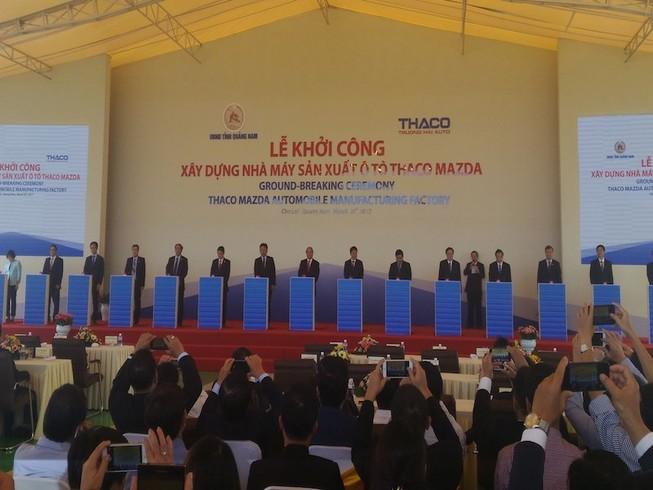 Khởi công Nhà máy ô tô THACO Mazda 520 triệu USD