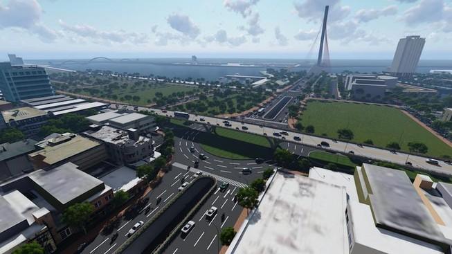 Phân luồng để cải tạo nút giao thông cầu Trần Thị Lý