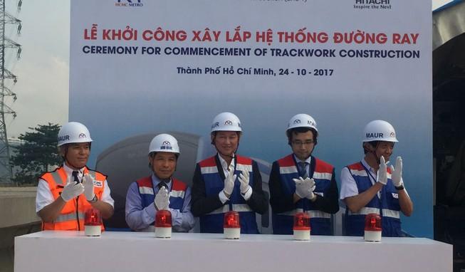 Bắt đầu lắp ray tuyến metro số 1 Bến Thành-Suối Tiên