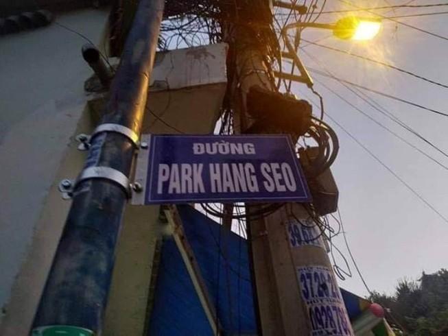 Sở VH&TT nói về việc dân tự gắn tên đường ông Park Hang-seo