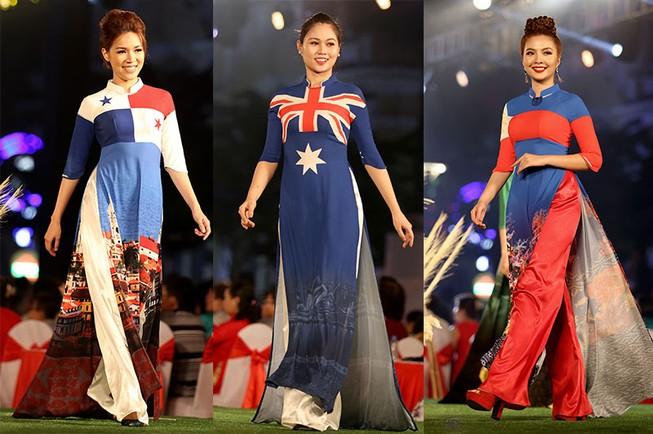 Cả thế giới hiện lên qua áo dài của Đỗ Trịnh Hoài Nam