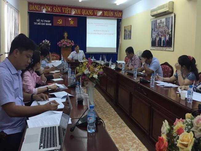 Sở Tư pháp TP họp báo kỷ niệm Ngày pháp luật Việt Nam