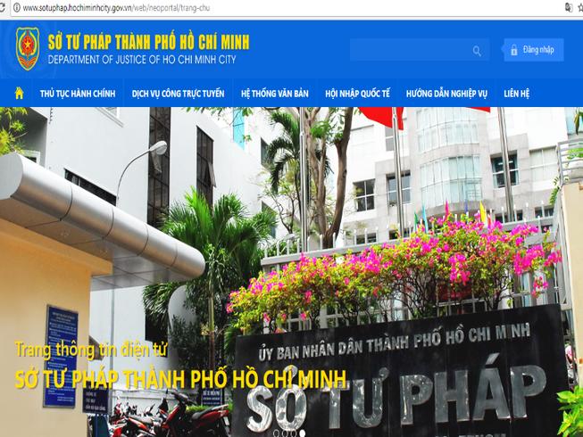 Sở Tư pháp TP.HCM ra mắt Website giao diện mới