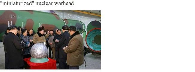 'Đầu đạn hạt nhân thu nhỏ của Triều Tiên là thật'