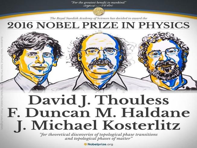 Bộ ba người Anh đoạt giải Nobel vật lý 2016