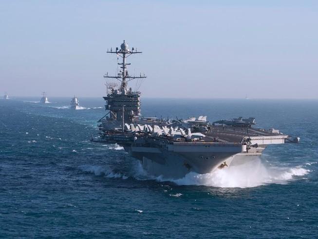 Tàu sân bay Mỹ bất ngờ tiến vào Địa Trung Hải