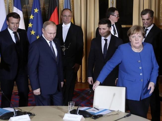 Bà Merkel nói gì với ông Putin sau đàm phán Bộ tứ Normandy?