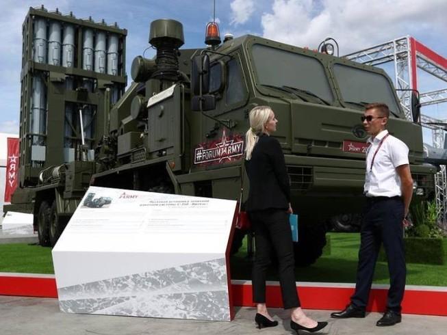 Hệ thống tên lửa phòng không S-350 Vityaz của Nga. Ảnh: TASS