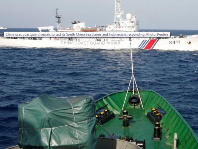 Tàu tuần duyên của Trung Quốc ở biển Đông. Ảnh: REUTERS