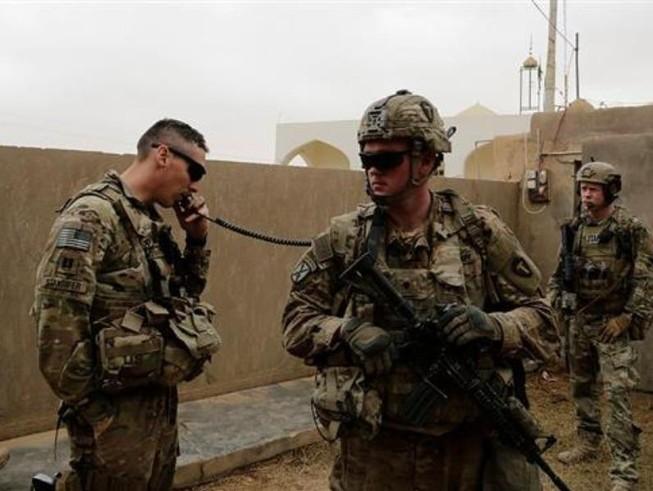 Binh sĩ Mỹ ở Iraq. Ảnh: AP
