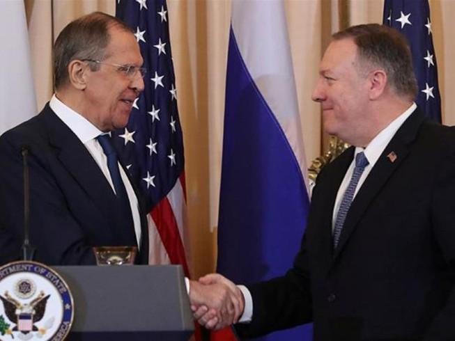 Ngoại trưởng Nga Sergei Lavrov (trái) và người đồng cấp Mỹ Mike Pompeo họp báo chung sau cuộc gặp ở Washington (Mỹ) năm 2019. Ảnh: Jonathan Ernst/REUTERS