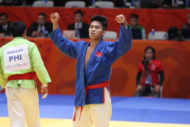 Tuyển Kurash Việt Nam giành 5 HCV trong ngày thi đấu thứ 2