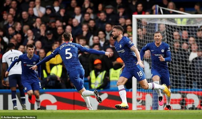 Đánh bại Tottenham trên sân nhà, Chelsea giữ chắc vị trí thứ 4