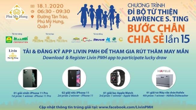 Đi bộ từ thiện có cơ hội trúng iPhone 11 Pro...