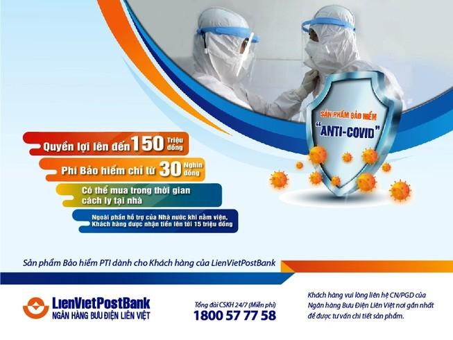 LienVietPostBank triển khai gói bảo hiểm Anti-COVID
