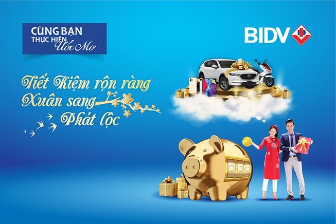 Cơ hội trúng nhiều giải thưởng giá trị khi gửi tiền ở BIDV