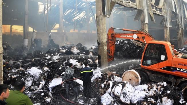 Cháy nhà máy giấy ở Bắc Ninh: Thiệt hại 200 tỉ đồng