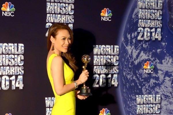 Mỹ Tâm lập hattrick tại giải thưởng âm nhạc quốc tế