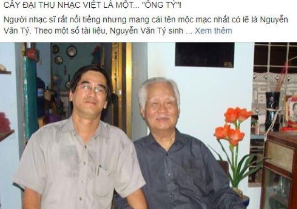 Cộng đồng mạng tiếc nuối sự ra đi của nhạc sĩ Nguyễn Văn Tý
