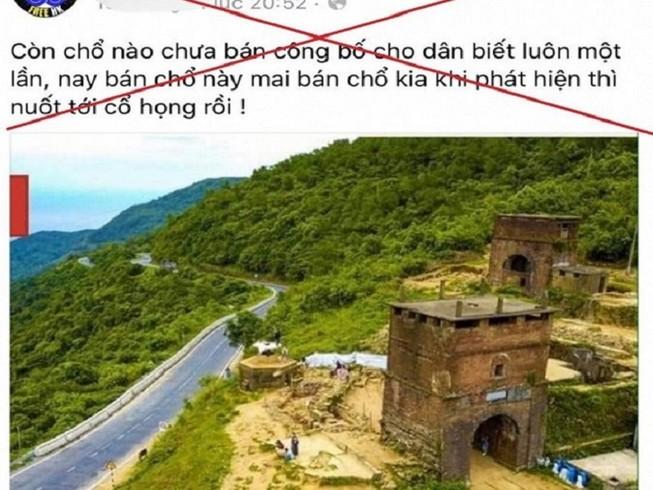 Bác tin 200 ha đất ở đèo Hải Vân rơi vào tay người Trung Quốc