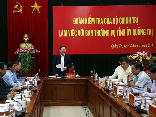 Đoàn kiểm tra của Bộ Chính trị làm việc với Quảng Trị