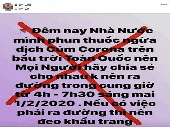 Triệu tập chủ tài khoản Facebook đăng tin sai về dịch Corona