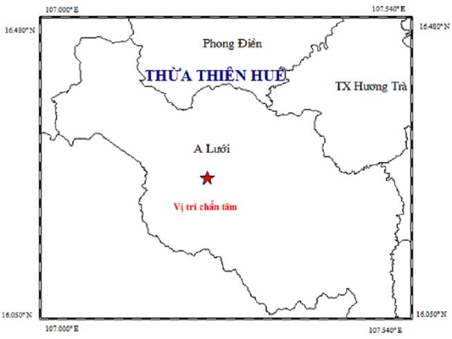 Động đất tại Thừa Thiên-Huế