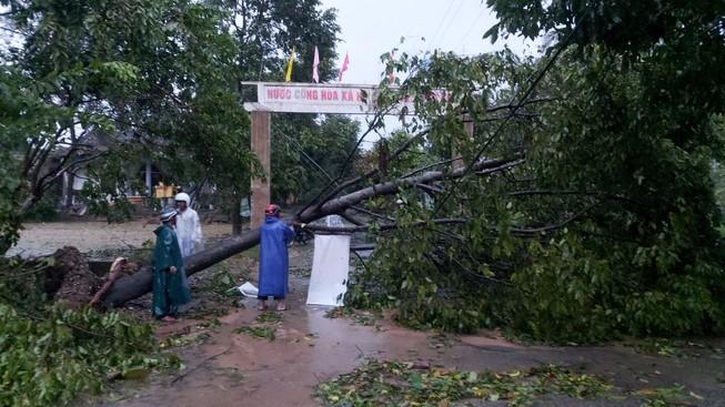 Hàng loạt ngôi nhà huyện miền núi Thừa Thiên-Huế tốc mái