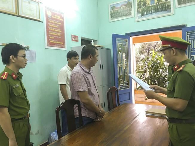 Ông Nguyễn Phước Quý Tuấn tại cơ quan điều tra.
