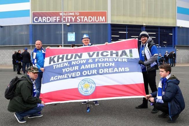 Chiến thắng gây xúc động Leicester dành cho chủ tịch Vichai