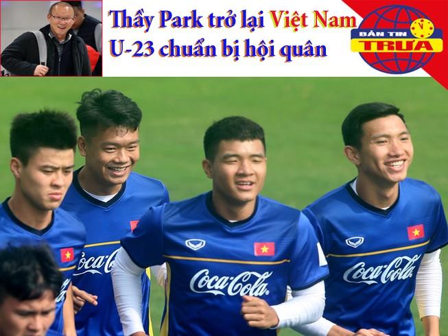 Thầy Park trở lại, U-23 Việt Nam vào chiến dịch U-23 châu Á