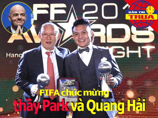 FIFA chúc mừng thầy Park, Quang Hải; bầu Hiển giải cứu CLB nữ