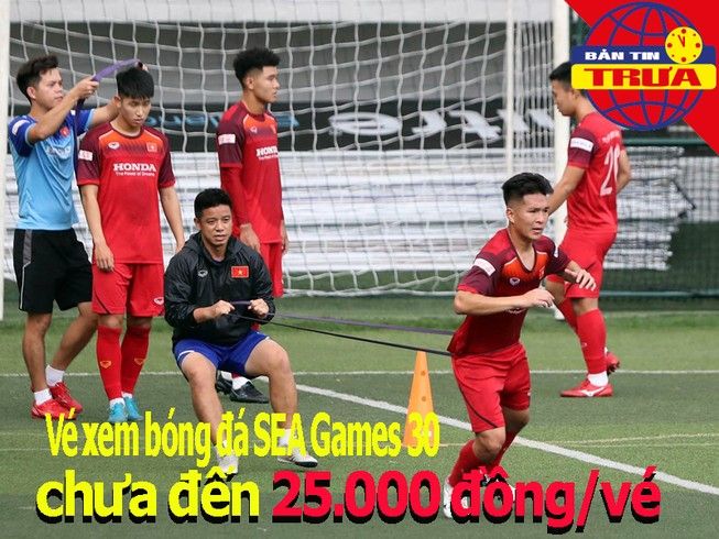 Vé bóng đá SEA Games 30 chưa đến 25000 đồng; Tuyển nữ gút quân